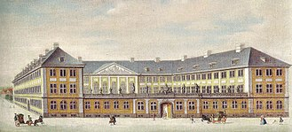 Prince's Mansion, Copenhagen - The mansion in 1757