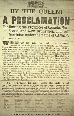 Proclamation Canadian Confederation