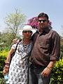 Prof vishnu narayan saxena with his wife.JPG