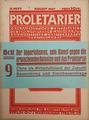 Proletarier. Kommunistische Zeitschrift für revolutionären Klassenkampf. August 1925.png