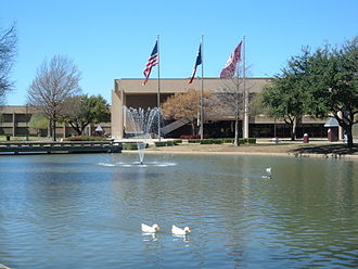 Plano Senior High School - The pond at Plano Senior High School