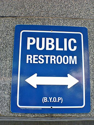 Public Restroom sign (cropped)