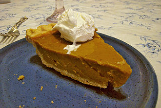 Cool Whip - Pumpkin pie topped with Cool Whip