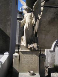 One of many Croatian tombs at the Punta Arenas (Chile) municipal cemetery