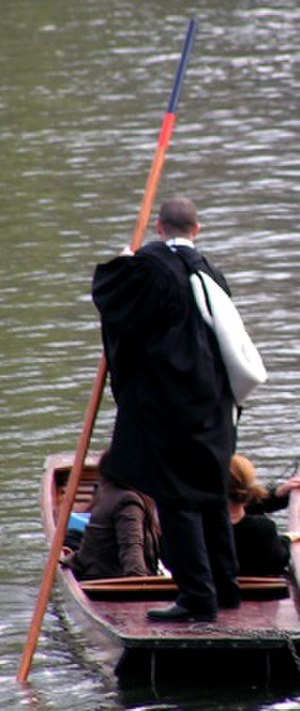 Academic dress of the University of Cambridge - A BA hood being worn with an undergraduate gown