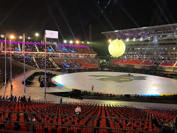 Pyeongchang Olympic Stadium at day for 2018 Winter Paralympics opening ceremony - 4.jpg