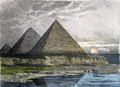 Pyramids of Giza by Fedinand Knab (1886).png