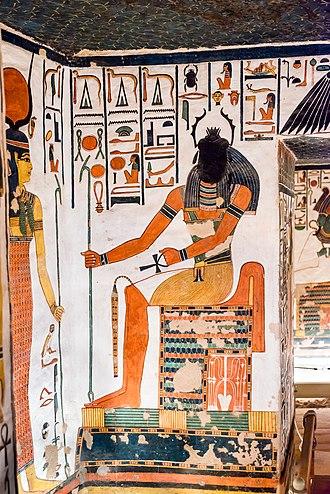 Khepri - Khepri is often represented as a scarab holding aloft the morning sun, or a scarab-headed man.