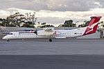 QantasLink (VH-LQK) Bombardier DHC-8-402Q taxiing at Wagga Wagga Airport.jpg