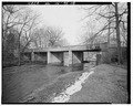 Quarter view, looking northeast. - Pendleton Avenue Bridge, Spanning Fall Creek, Pendleton, Madison County, IN HAER IND,48-PEN,1-8.tif