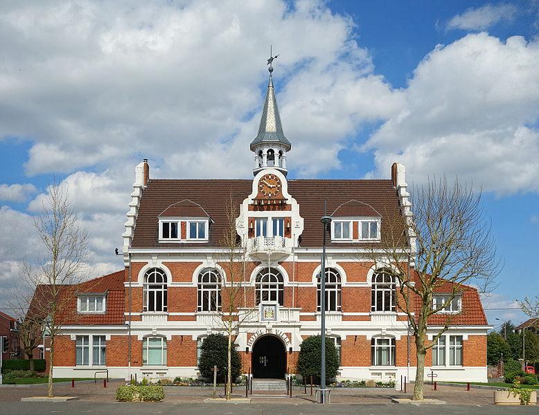 Town hall of Quesnoy-sur-Deûle, France.