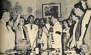 Elpidio Quirino - Vice-President Elpidio Quirino was inaugurated as the 6th President of the Philippines on April 17, 1948 at the Council of State Room, Executive Building, Malacañan Palace.