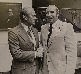 R. Budd Dwyer - Dwyer in the 1970s, with U.S. President Gerald Ford.