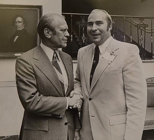 R. Budd Dwyer with Gerald Ford