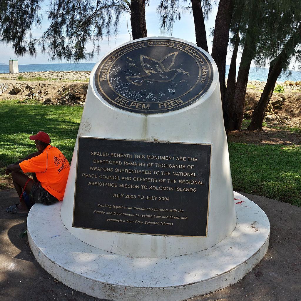 Solomon Islands Beach: File:RAMSI Memorial, Police Memorial Park, Rove Honiara