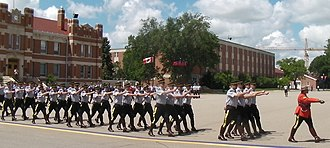 RCMP Academy, Depot Division - Cadets marching at the Depot