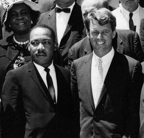 Martin Luther King Jr. and Robert Kennedy in Washington, D.C. on June 22, 1963 RFK and MLK together.jpg