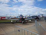 RNZAF (N2770B and N2763B) Beechcraft T-6C Texans II on display at the 2015 Australian International Airshow.jpg