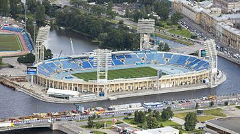 Aerial view of Petrovsky Stadium