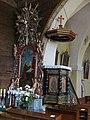 Rachowice, kościół Trójcy Świętej, ambona.JPG