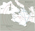Radius of action of Allied aircraft from Malta in relation to Axis shipping routes, Summer and Autumn, 1941.jpg