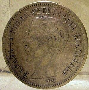 Mataquescuintla - Image: Rafael Carrera coin