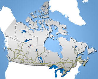 Rail transport in Canada - Major lines of the Canadian railway network