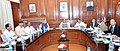 Rajnath Singh, chairing a meeting of the Group of Ministers on the New Crop Insurance Scheme, in New Delhi. The Union Minister for Finance, Corporate Affairs and Information & Broadcasting, Shri Arun Jaitley.jpg