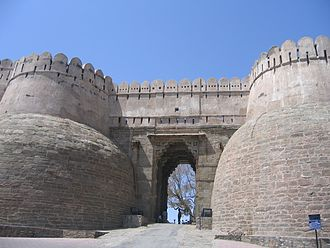 Kumbhalgarh - The massive gate of Kumbhalgarh fort, called the Ram Pol (Ram Gate)