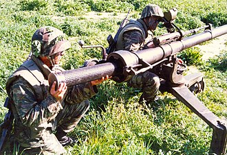 M40 recoilless rifle - Greek infantrymen with an M40
