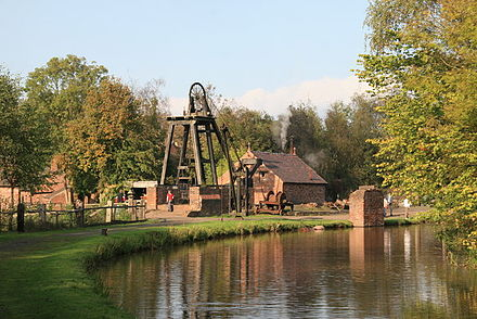 The coal mine and Shropshire Canal Reconstructed colliery, Blists Hill - geograph.org.uk - 260289.jpg