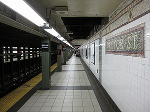 Rector Street (IRT Broadway–Seventh Avenue Line) - Uptown platform
