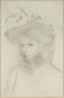 Redon - Studie für Marie Botkin im Astrachanmantel, 1900.png