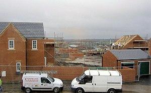 Grimethorpe - New private housing being built in Grimethorpe as part of its regeneration in 2005.