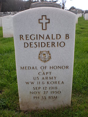 Reginald B. Desiderio - Desiderio's grave marker in San Francisco National Cemetery