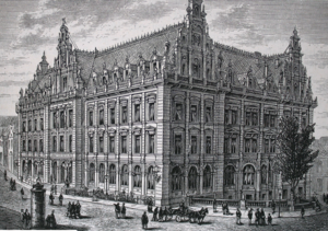 Bremen Main Post Office Building - Reichspost in Bremen in 19th century