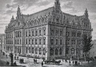 Bremen Main Post Office Building - Reichspost in Bremen in 19th century