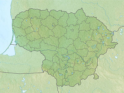 Location map Lithuania
