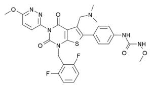 Relugolix - Image: Relugolix structure