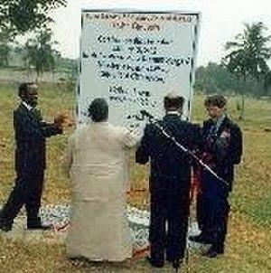 Arlene Render - Render dedicates the site of the new embassy in Abidjan.