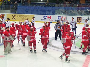 Poland men's national ice hockey team - Poland at the 2017 World Championship Division IA tournament in Ukraine. They finished fourth.