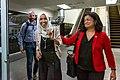 Representatives Ilhan Omar and Pramila Jayapal arrive at MSP Airport. (48318937867).jpg