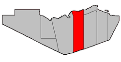Location within Restigouche County.