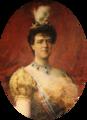 Retrato da Rainha D. Amélia - Carlos Reis, Palácio da Pena.png
