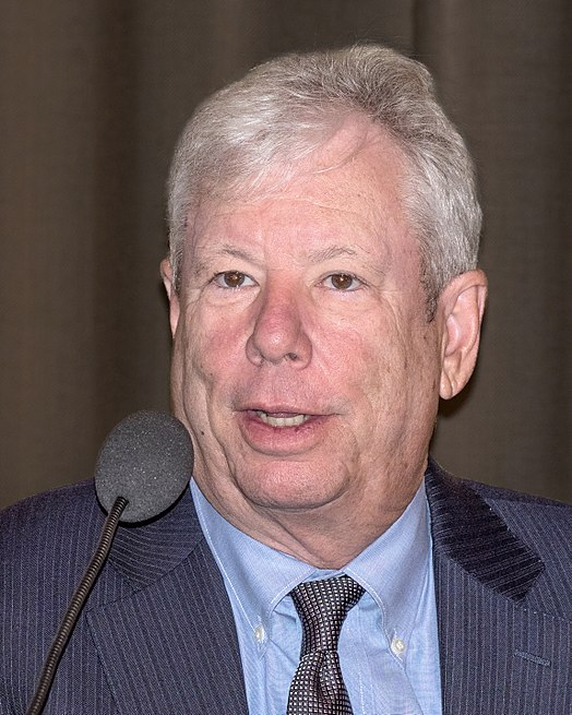Richard H. Thaler during Nobel Prize press conference in Stockholm, December 2017