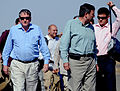 Richard Holbrooke, the U.S. special representative to Afghanistan, and his staff arrive at Herat Airport in Herat, Afghanistan, Aug. 22, 2009 090822-F-OF869-002.jpg