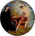 Richard Westall - William Shakespeare between Tragedy and Comedy, 1825.jpg