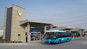 Viva Rapid Transit - Viva bus at Richmond Hill Centre Terminal
