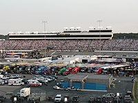 Richmond International Raceway as seen from the stands.