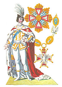Ridder in de Orde van de Witte Adelaar in de ordekleding.jpg
